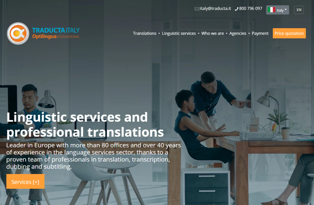 2021 03 10 12 20 36 Language and translation services agency in Italy